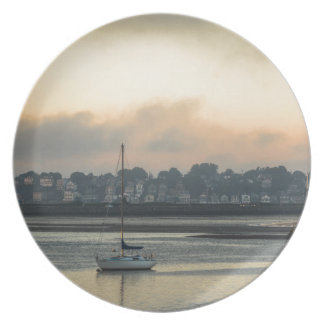 Sunrise and Boats Dinner Plate