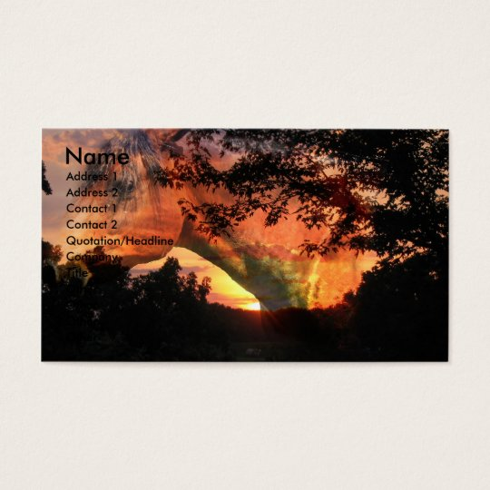 Sunrise and Horse Head Business Card