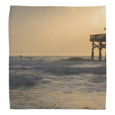 Beach Themed Sunrise and Paddleboarding Bandana