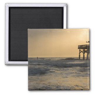 Sunrise and Paddleboarding Magnet