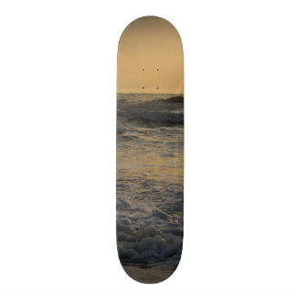 Sunrise and Paddleboarding Skateboard Deck