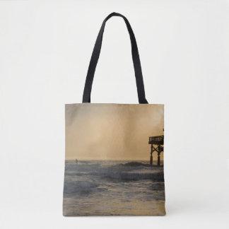 Sunrise and Paddleboarding Tote Bag