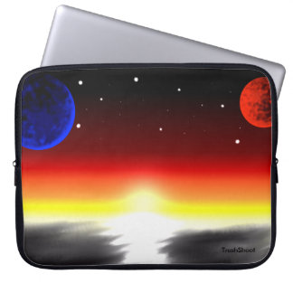 Sunrise and planet laptop sleeve