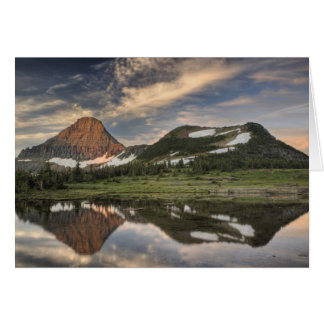 Sunrise and reflection, Glacier National Park, Card