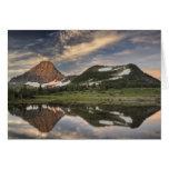 Sunrise and reflection, Glacier National Park, Greeting Card