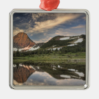 Sunrise and reflection, Glacier National Park, Metal Ornament