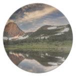 Sunrise and reflection, Glacier National Park, Plates