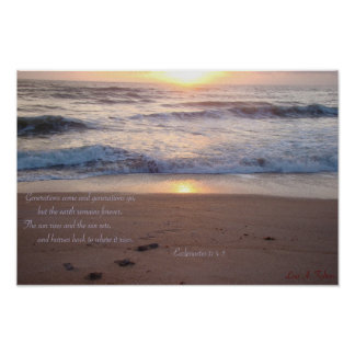 Sunrise and Sand Poster