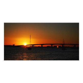 Sunrise and Sunset photos Card