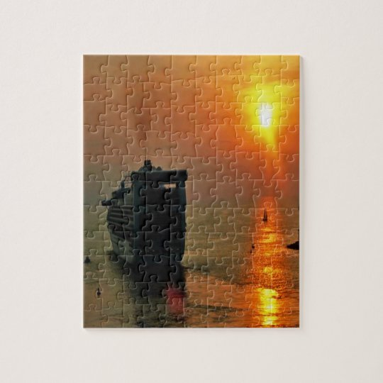 Sunrise and Sunset photos Jigsaw Puzzle