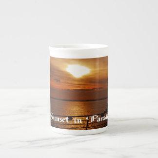 Sunrise and Sunset photos Tea Cup