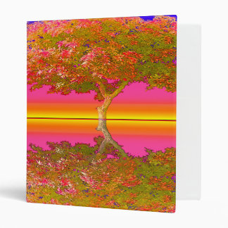 Sunrise and Sunset with Tree 3 Ring Binder