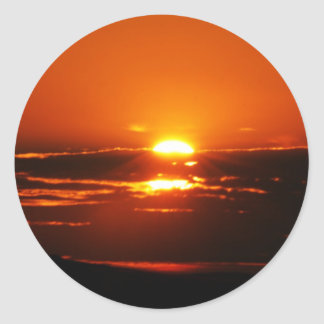 Sunrise As The Day Breaks Classic Round Sticker