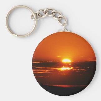 Sunrise As The Day Breaks Keychain