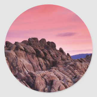 Sunrise at Alabama Hills Classic Round Sticker