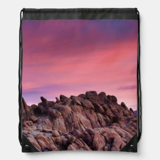 Sunrise at Alabama Hills Drawstring Bag
