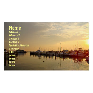 Sunrise at Atlantic Highlands New Jersey Double-Sided Standard Business Cards (Pack Of 100)