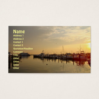 Sunrise at Atlantic Highlands New Jersey Business Card