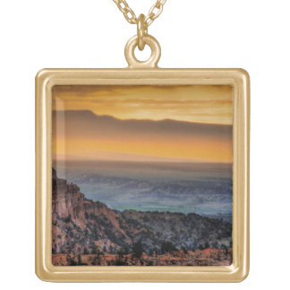 Sunrise at Bryce Canyon Square Pendant Necklace