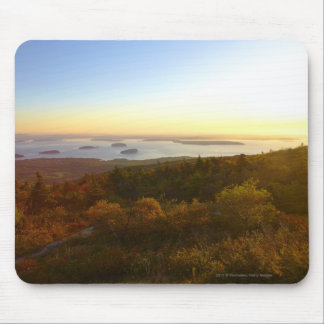 Sunrise at Cadillac Mountain with Hikers Mouse Pad