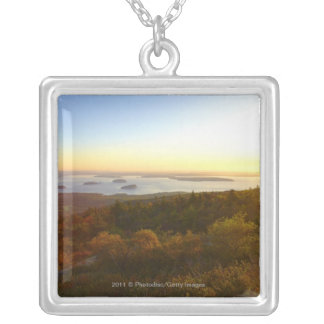 Sunrise at Cadillac Mountain with Hikers Custom Necklace