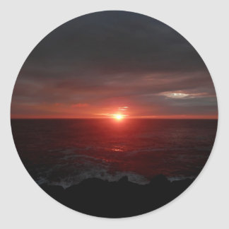 Sunrise At Cape Spear Classic Round Sticker