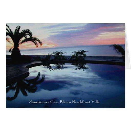 Sunrise at Casa Blanca Beachfront Villa Cards