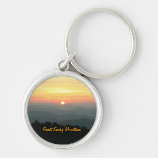 Sunrise at Clingman's Dome - Great Smoky Mountains Silver-Colored Round Keychain