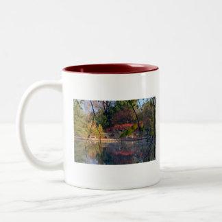 Sunrise At Cox Arboretum Two-Tone Coffee Mug