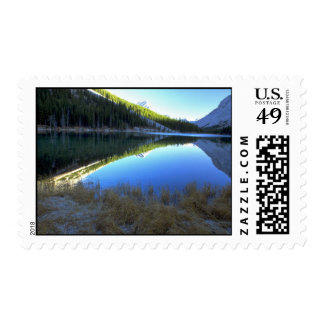 Sunrise at Elbow Lake in the Rocky Mountains, Cana Stamps