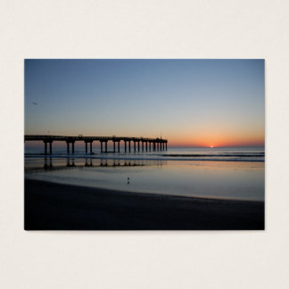 sunrise at fishing pier business card
