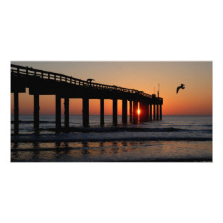 Sunrise at fishing pier St. Augustine Beach, Fl. Card