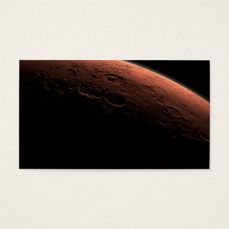 Sunrise at Gale Crater Planet Mars Business Card