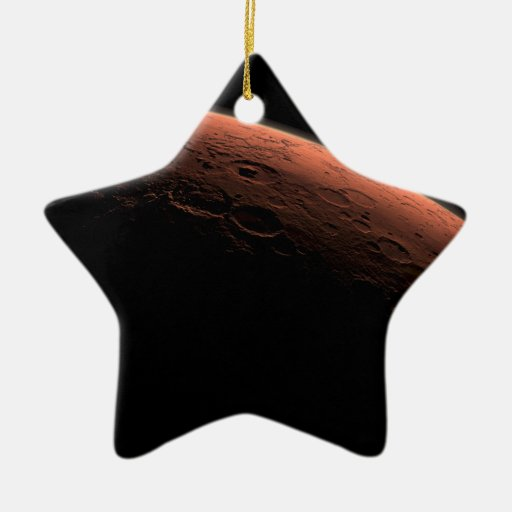 Sunrise at Gale Crater Planet Mars Double-Sided Star Ceramic Christmas Ornament