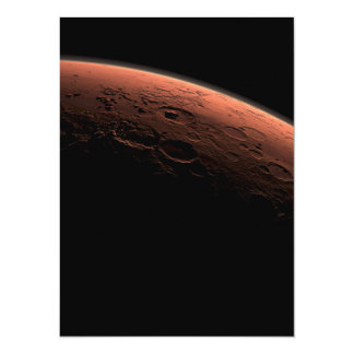 """Sunrise at Gale Crater Planet Mars 5.5"""" X 7.5"""" Invitation Card"""