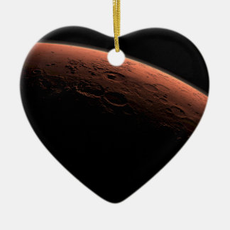 Sunrise at Gale Crater Planet Mars Double-Sided Heart Ceramic Christmas Ornament