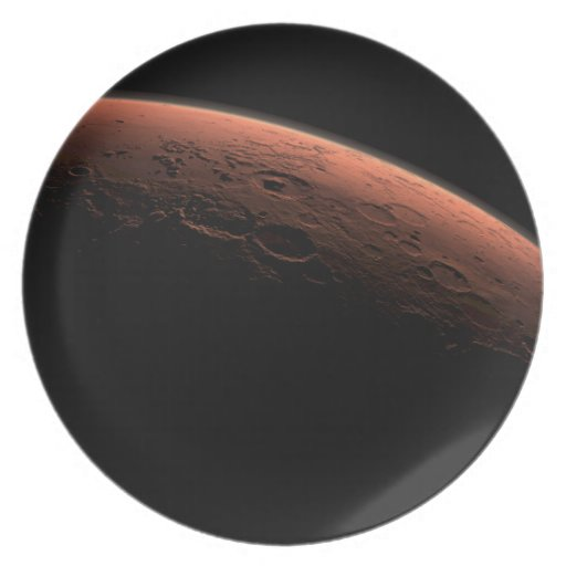 Sunrise at Gale Crater Planet Mars Plate