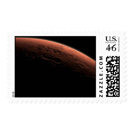 Sunrise at Gale Crater Planet Mars Postage