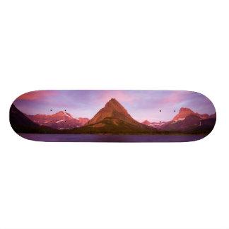 Sunrise at Glacier Skateboard Deck