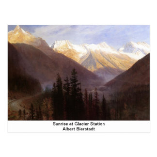 Sunrise at Glacier Station Postcard