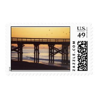 Sunrise at Goleta Pier Postage