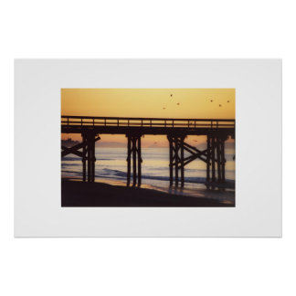 Sunrise at Goleta Pier Poster