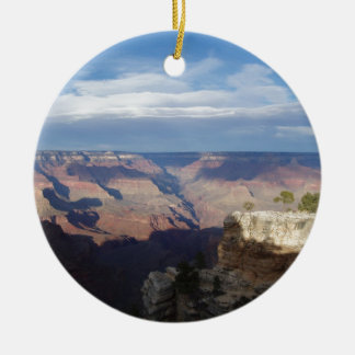 Sunrise at Grand Canyon Double-Sided Ceramic Round Christmas Ornament
