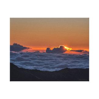 Sunrise at Haleakala photograph on wrapped canvas