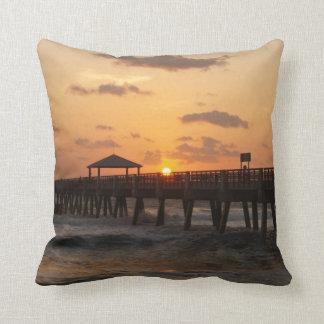 Sunrise at Juno Beach Throw Pillows