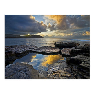 Sunrise At Kimmeridge Bay Postcard