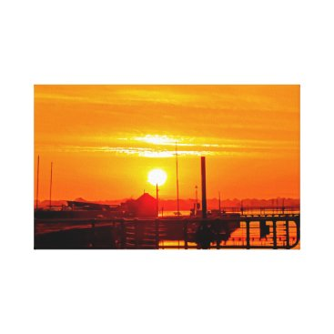 Art Themed Sunrise at Lydney Harbour Canvas Print