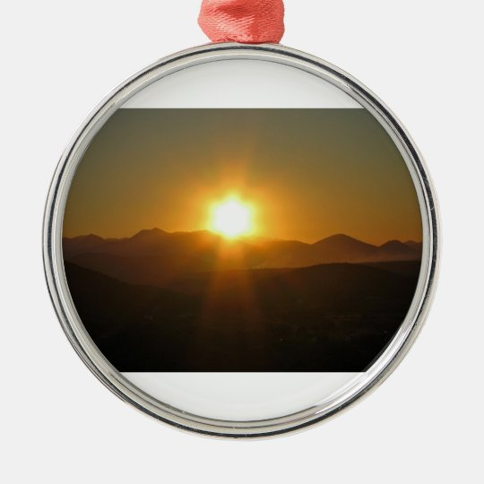 sunrise at Medjugorje Metal Ornament
