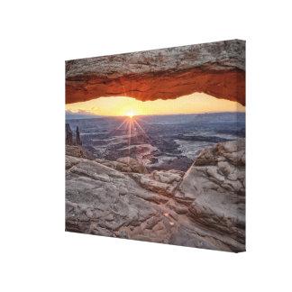 Sunrise at Mesa Arch, Canyonlands National Park Canvas Print