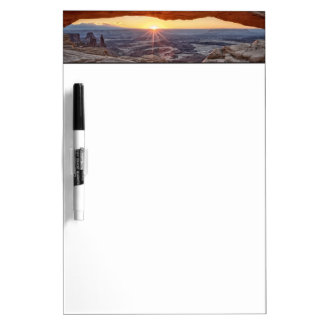 Sunrise at Mesa Arch, Canyonlands National Park Dry Erase Whiteboards